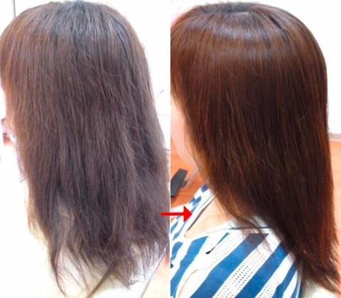 ミコノストリートメントで髪を修復!