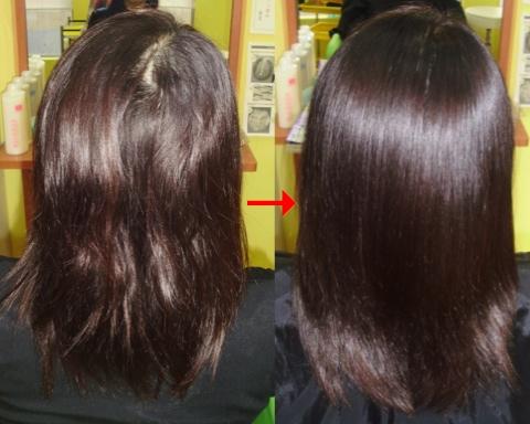 ミコノスサプリカラーで髪質良くなる!