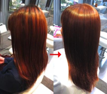 ミコノス縮毛矯正+カラー:板橋区美容室flow