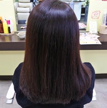 縮毛矯正&カラー:名古屋市守山区:美容室ぽぷり