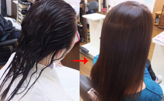 マレーア・レナータ縮毛矯正で細毛も美しいストレートヘアーに