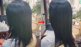 マレーア・レナータ縮毛矯正で質感柔らかくシルクのようになったなる