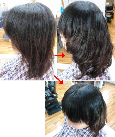 この写真のような(デジタル)パーマ&縮毛矯正をしていた97%の美容室は進化したシステム:マレーア・レナータカール(パーマ)へ転換しています。なおこの施術に用いたミコノスは既に廃盤になりました。