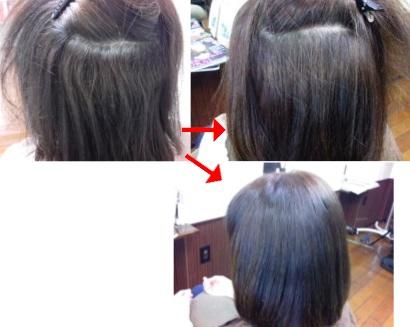 この写真のような縮毛矯正%カールをされていた97%の美容室は進化したシステム:マレーア・レナータ縮毛矯正&カール施術へ転換しています。なおこの施術に用いたミコノスは既に廃盤になりました。