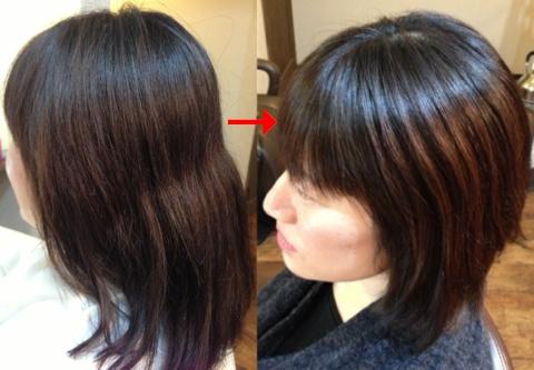 この写真のような縮毛矯正をされていた97%の美容室は進化したシステム:マレーア・レナータ縮毛矯正施術へ転換しています。なおこの施術に用いたミコノスは既に廃盤になりました。