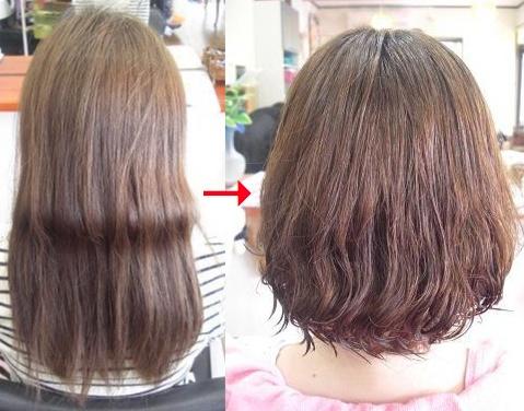 この写真のような縮毛矯正+パーマ施術をされていた97%の美容室は進化したシステム:マレーア・レナータ縮毛矯正+カール施術へ転換しています。なおこの施術に用いたミコノスは既に廃盤になりました。