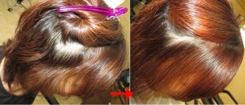 フェイスライン:この写真のような縮毛矯正は進化したシステム:マレーア・レナータ縮毛矯正施術へ転換しています。なおこの施術に用いたミコノスは既に廃盤になりました。