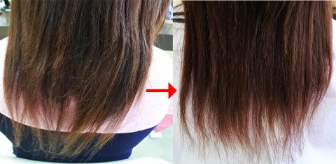 この写真のように縮毛矯正をされていた90%以上の美容室は進化したシステム:マレーア・レナータ縮毛矯正施術へ転換しています。なおこの施術に用いたミコノスは既に廃盤となっています。