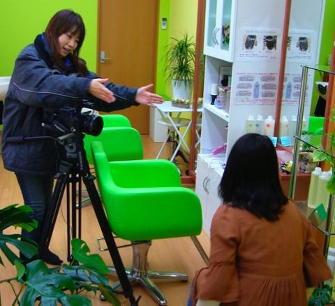 鎌倉ケーブルテレビで取材:鎌倉:美容室裕
